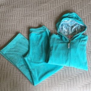 Lilly Pulitzer terrycloth pants/jacket track suit